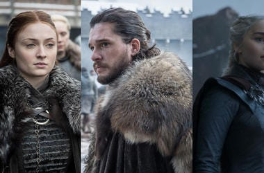 Sansa Jon and Daenerys