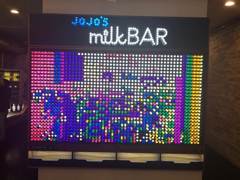 Jojo's Milk Bar / Lite-Brite Art
