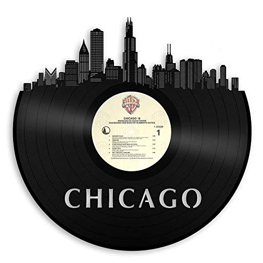 Chicago Skyline Vinyl Wall Art - Warner Bros