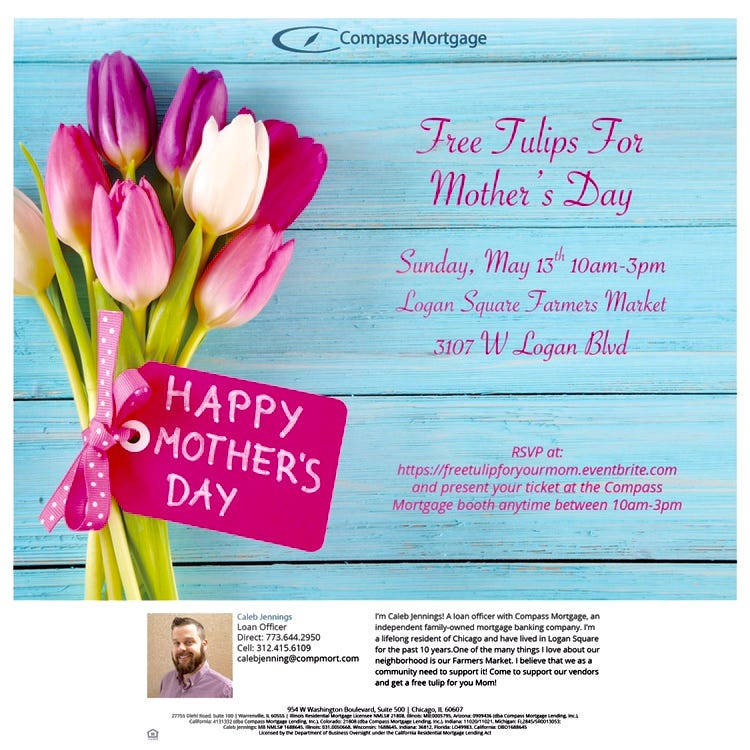 Free Tulips for Mother's Day