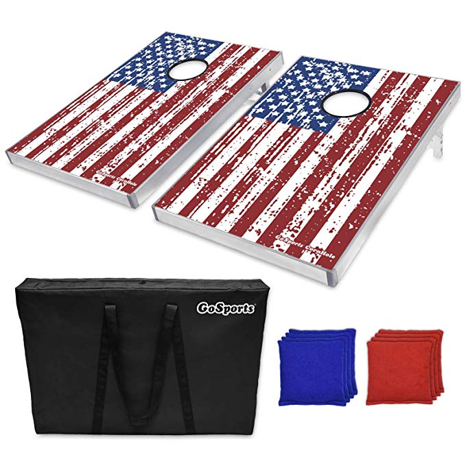 American flag cornhole