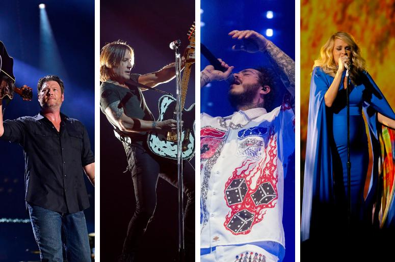 Blake Shelton, Keith Urban, Post Malone, Carrie Underwood
