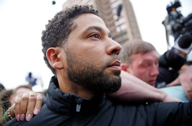 Jussie Smollett leaves Cook County jail after posting bond on February 21