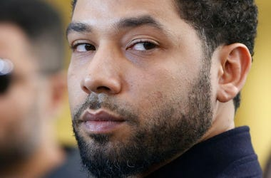 Actor Jussie Smollett after his court appearance at Leighton Courthouse on March 26, 2019 in Chicago, Illinois.
