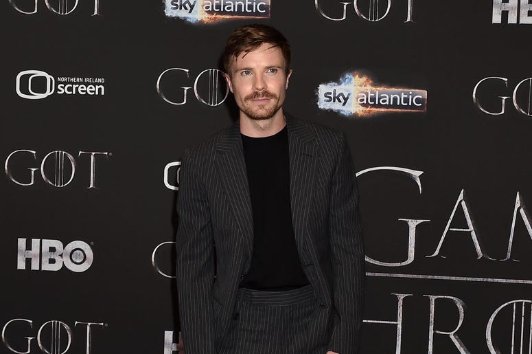 Joe Dempsie attends the 'Game of Thrones' Season 8 screening at the Waterfront Hall on April 12, 2019 in Belfast, Northern Ireland.