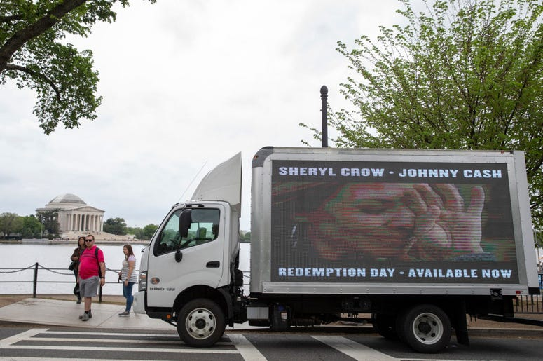 Sheryl Crow & Johnny Cash's 'Redemption Day' Video Premieres near the Jefferson Memorial on April 19, 2019 in Washington, DC.