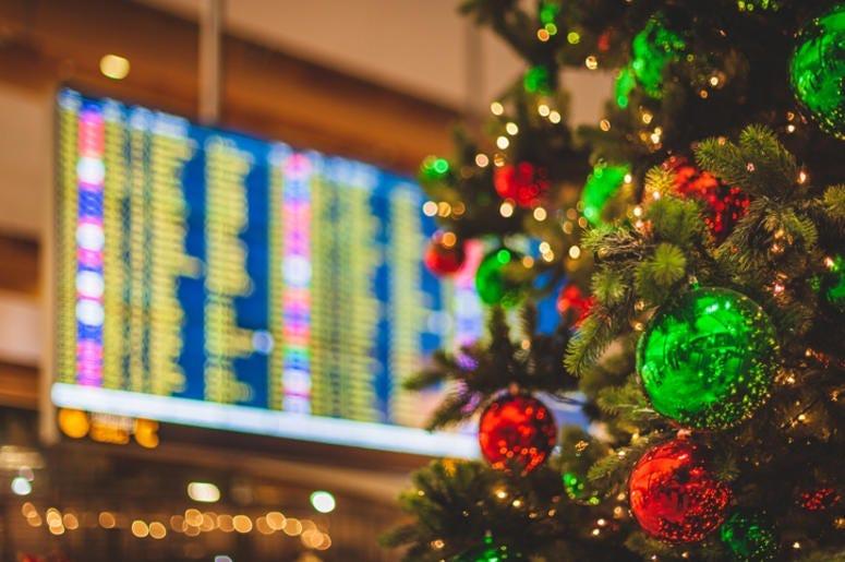 Christmas tree at airport