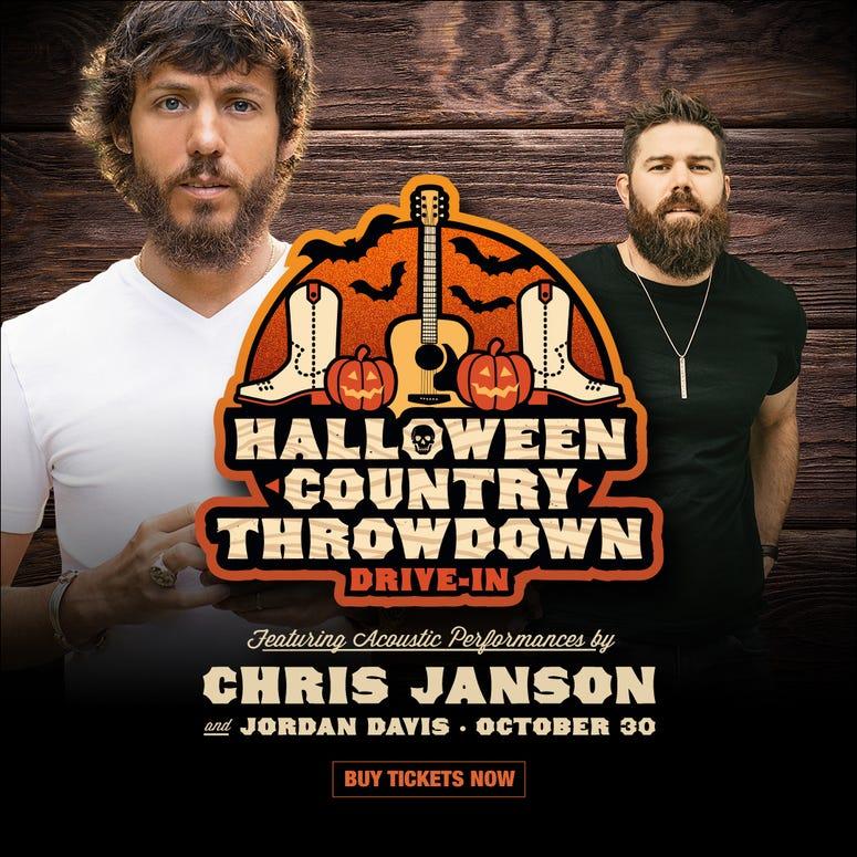 Halloween Country Throwdown, Drive-in concert, Chris Janson, Jordan Davis
