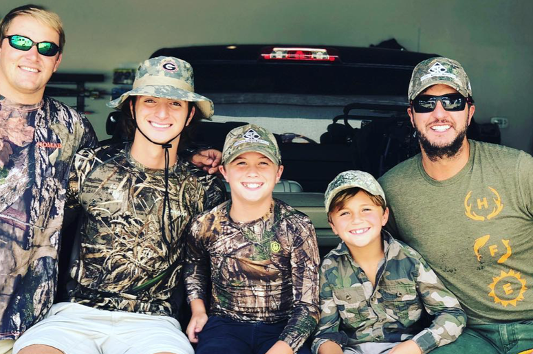 Luke Bryan & his family