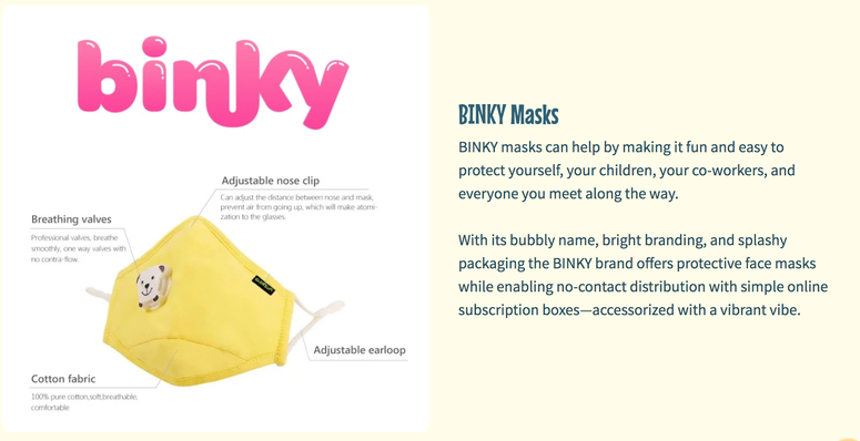 Face Mask, Children, Binky