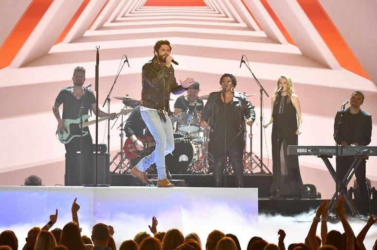 Thomas Rhett performs during the 2019 ACM Awards.