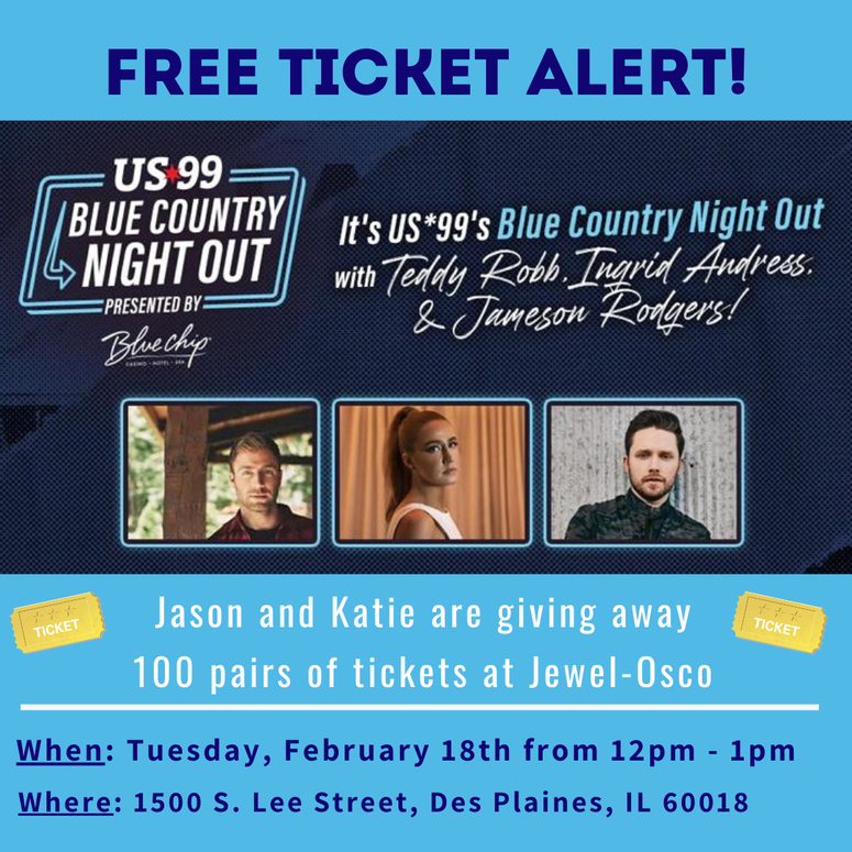 Blue Country Night Out, US*99, Joes Live, Free Tickets