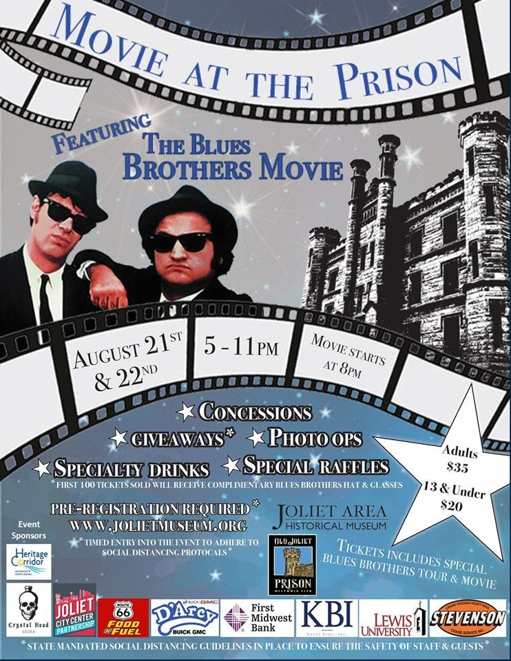 Blues Brothers, Movie, Screening, Old Joliet Prison
