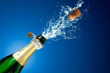 Champagne, Sword, Bottle,