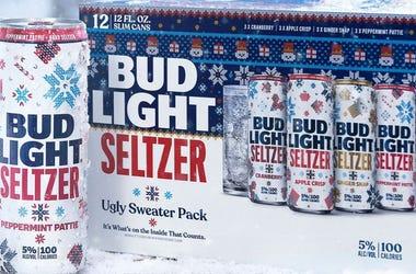 Bud Light, Ugly Sweater, Seltzer, Holiday, Christmas