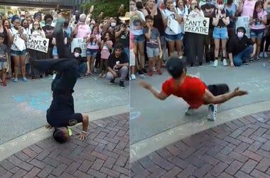 Police, Protest, Dance Off, Elgin, Black Lives Matter