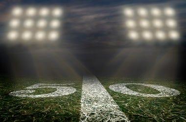 Football Field, High School, Stadium, Lights, First Responders