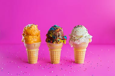 Ice Cream, Tate's Old Fashioned Ice Cream Shop, Frontline Heroes, Firefighters, Local,
