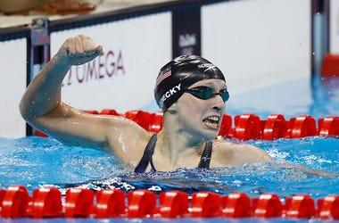 Katie Ledecky, Got Milk Challenge, Chocolate Milk, Swim, Olympics, Impressive