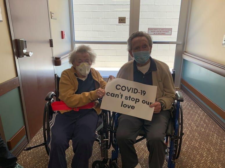 Love birds, couple, COVID-19