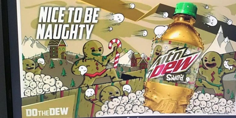 Mountain Dew, Soft Drink, Pop, Gingerbread, Holiday Flavor, Christmas