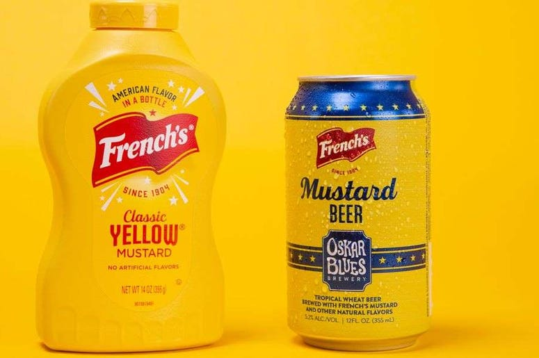 Mustard Beer, French's, Oskar Blues Brewery, Classic, Yellow,