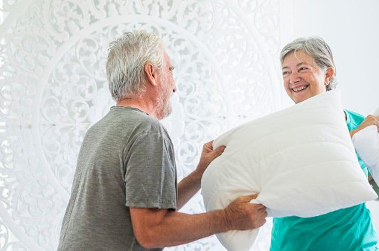 pillow, veteran, British, cry, gift, thoughtful