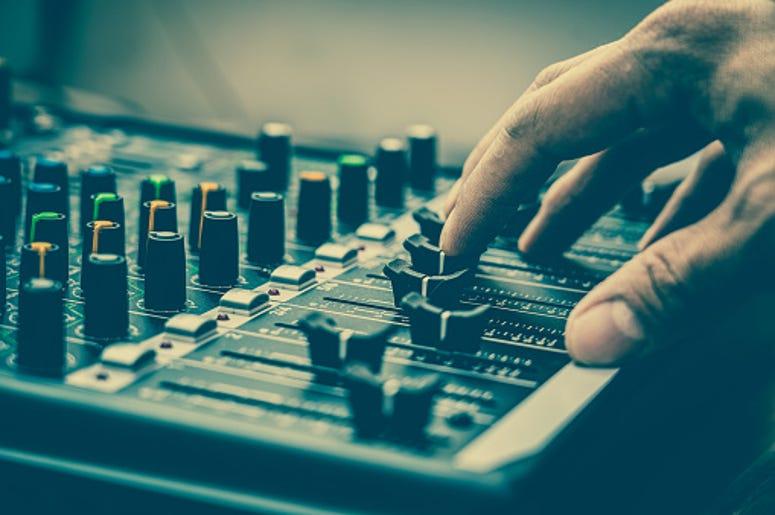 record, music, sound board