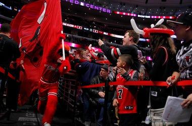 Bulls mascot Benny the Bull
