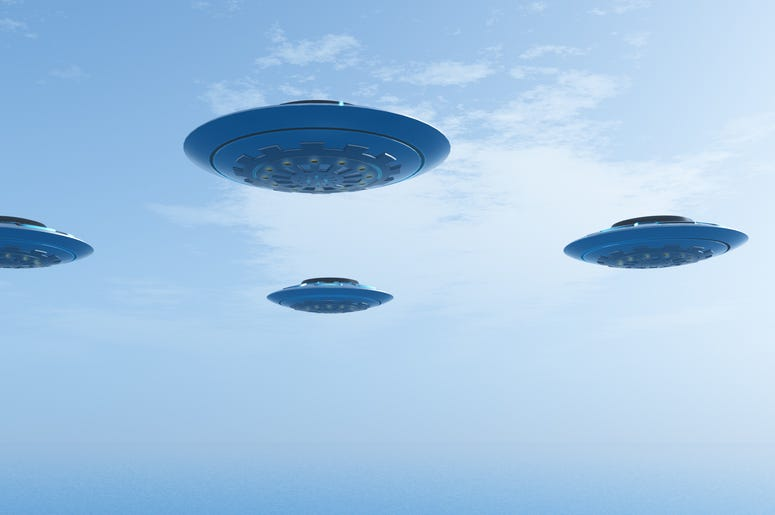 UFOs in the sky