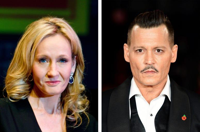 J.K. Rowling & Johnny Depp