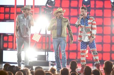 Jason Aldean & Florida Georgia Line perform during the 2019 ACMs.