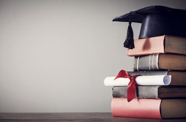 Books and Diploma