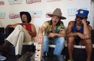 Midland Plays Conversation Jenga at Lakeshake