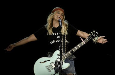 Sep 10, 2016; West Palm Beach, FL, USA; Miranda Lambert performs at Perfect Vodka Amphitheatre.