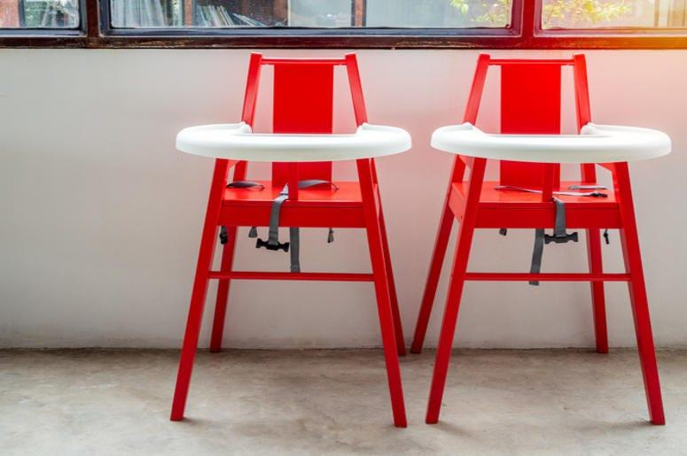 picture of two high chairs