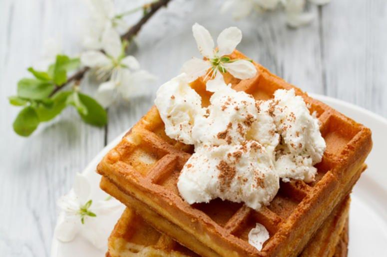 Waffles & flowers