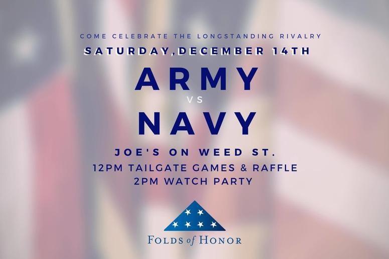 Folds of Honor, Army, Navy, Football, Joes Bar