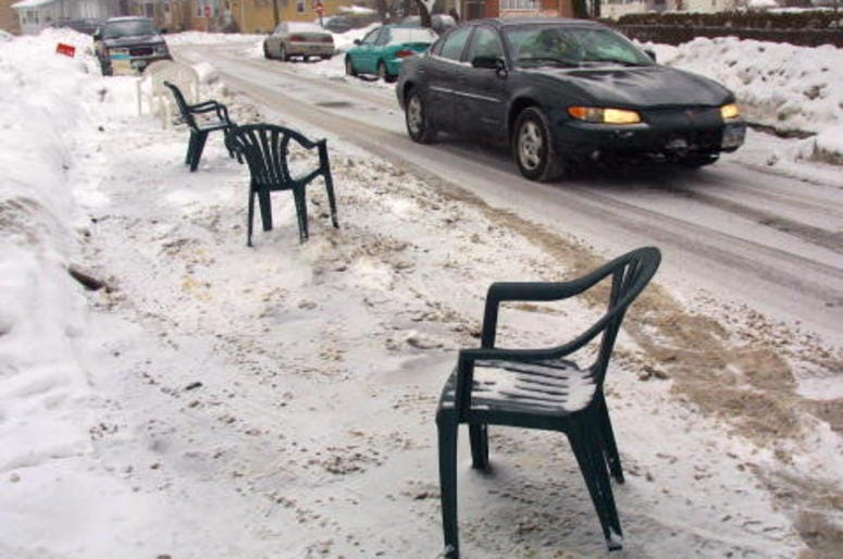 Chicago, Parking, Snow, Dibs