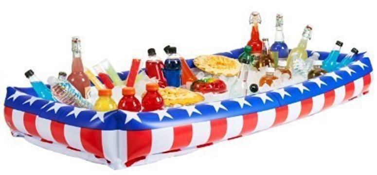 American flag buffet cooler