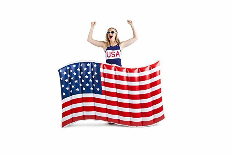 American flag float