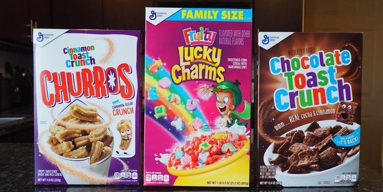 Cinnamon Toast Crunch Churros, Fruity Lucky Charms & Chocolate Toast Crunch