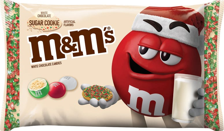 M&Ms, Candy, White Chocolate Sugar Cookie, new Flavor