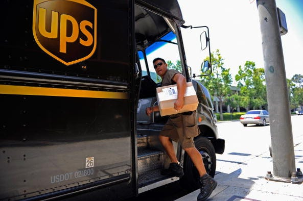 ups driver, delivery, package, holiday season