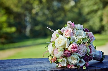Wedding, Flowers, Newlyweds, Couple, Delivery, Positive Vibes, Lift Spirits