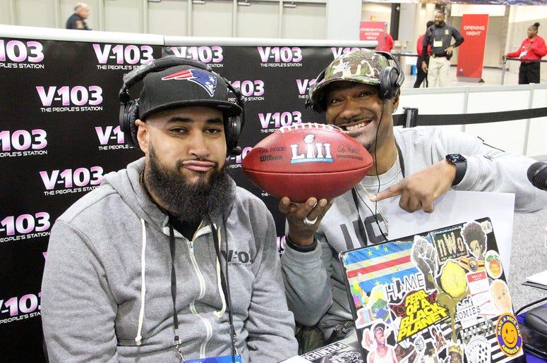 Big Tigger taunts V-103's NV with losing Patriots Super Bowl game ball