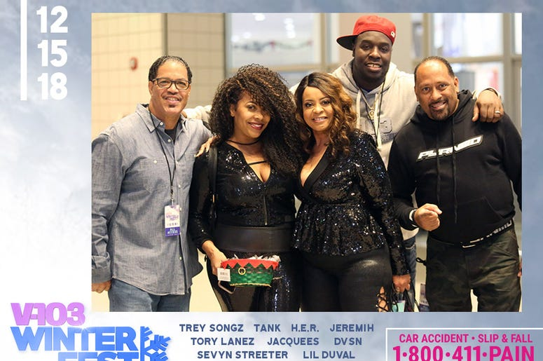 V-103 jocks at #V103Winterfest in Atlanta on December 15, 2018
