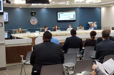 Atlanta City Council members during a February Work Session on Compliance Office
