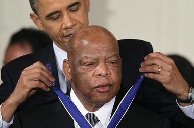 Congressman John Lewis received the Presidential Medal of Freedom in from President Obama in 2011