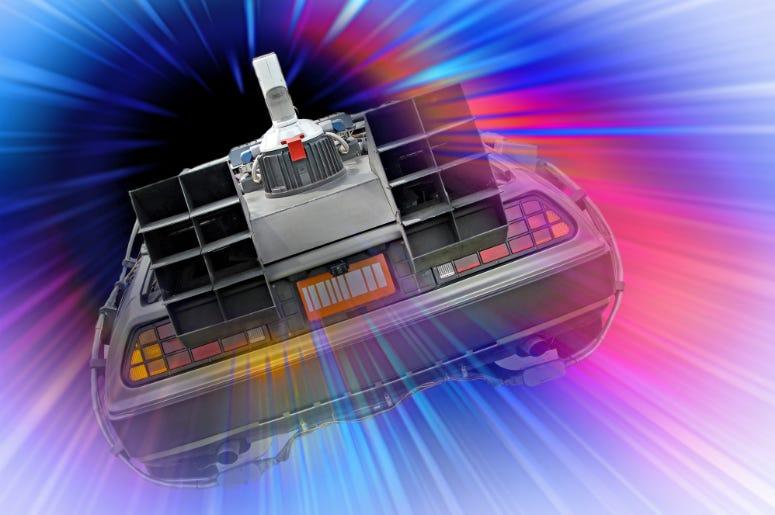 Back to the future Delorean space vortex travel